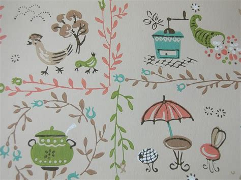 vintage wallpaper for your 50s kitchen and bath another