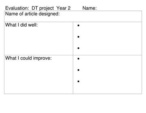 design brief ks2 design sheet evaluation sheet by lamentations teaching