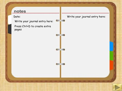 personal journal template diary writing template