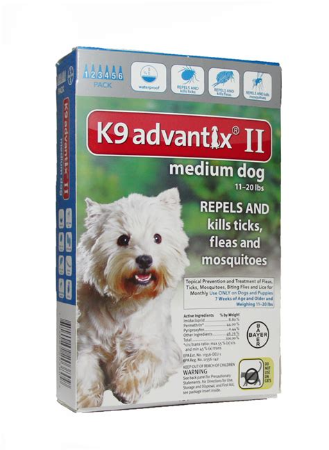 revolution for dogs 11 20 lbs k9 advantix ii teal for dogs 11 20 lbs 6 pack