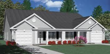 Duplex With Garage Plans by Southern Heritage Home Designs Duplex Plan 1392 B