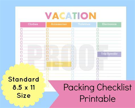travel planner template printable planner template