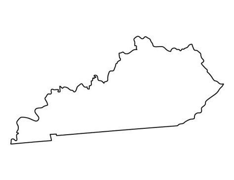 kentucky map outline kentucky pattern use the printable outline for crafts