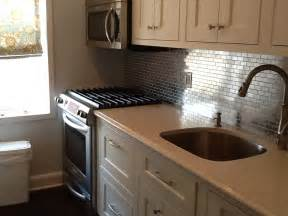 Stainless Steel Tiles For Kitchen Backsplash by Stainless Steel Mosaic Tile 1x2 Subway Tile Outlet