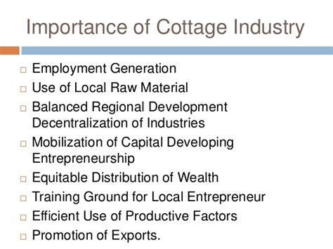 Cottage And Small Scale Industries by 139524158 Small Scale And Cottage Industries