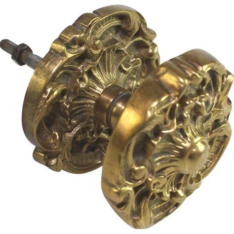 antique gilded bronze door knob architectural