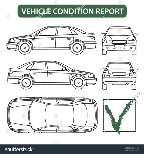 vehicle templates vehicle check sheet template free vehicle ideas