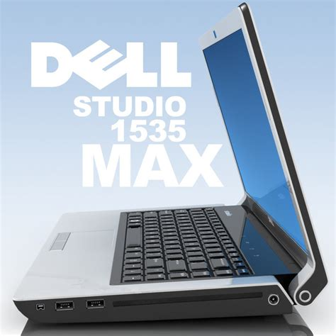 Dell Studio 1535 notebook dell studio 1535 3d model