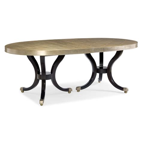 Silver Leaf Dining Table Caracole Draw Attention Silver Leaf Oval Extension Dining Table
