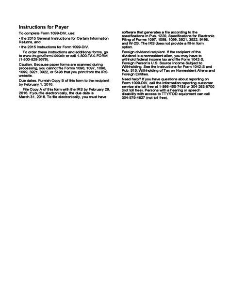 Download Form 1099 Div Dividends And Distributions