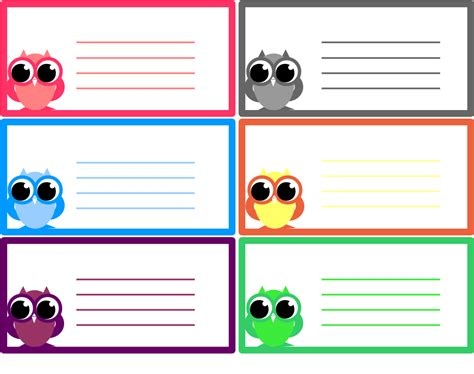printable note card template a beginner craft journal my free printables owl