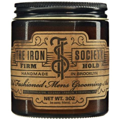 Pomade Firm Hold the iron society firm hold pomade strong hold based
