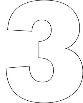 number 3 template best photos of large printable number 3 large printable