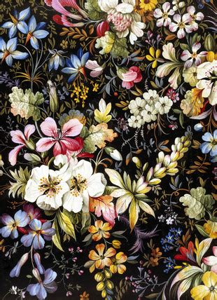flowered textile design, by william kilburn | memoryprints