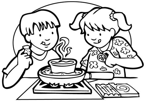 Cooking Coloring Pages Coloring Home Cooking Coloring Page