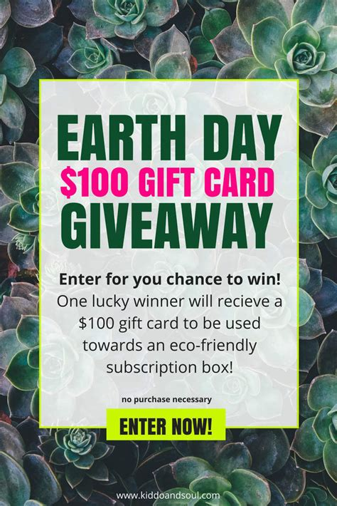 Earth Day Giveaways - enter the earth day giveaway yey kiddo soul