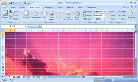 background excel set a photo image as an excel worksheet background