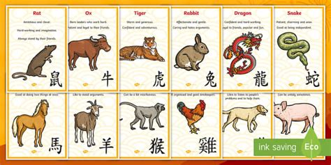 new year zodiac animal order new year zodiac animal characteristics display