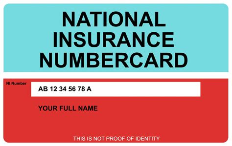 National Insurance Number Letters And Numbers Your National Insurance Number Printed On A Plastic Card