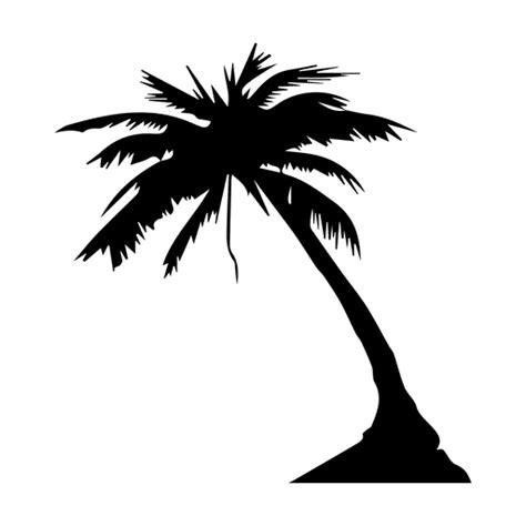 palm tree palm silhouette transparent png amp svg vector