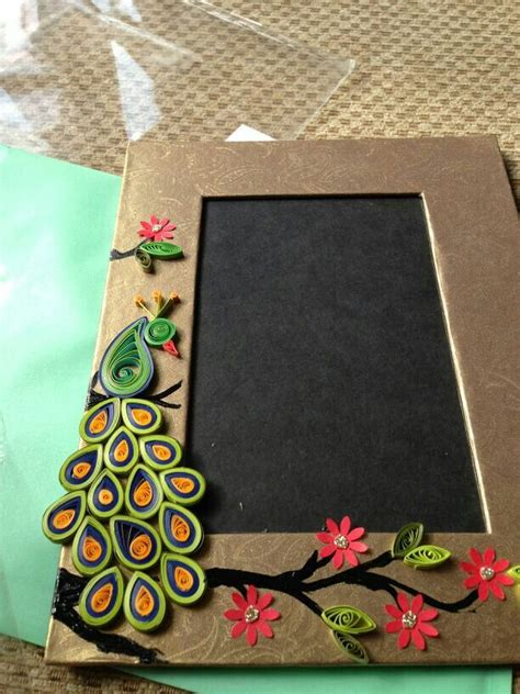 How To Make Paper Quilling Frames - quilling majestic peacock photo frame for 20 quilling