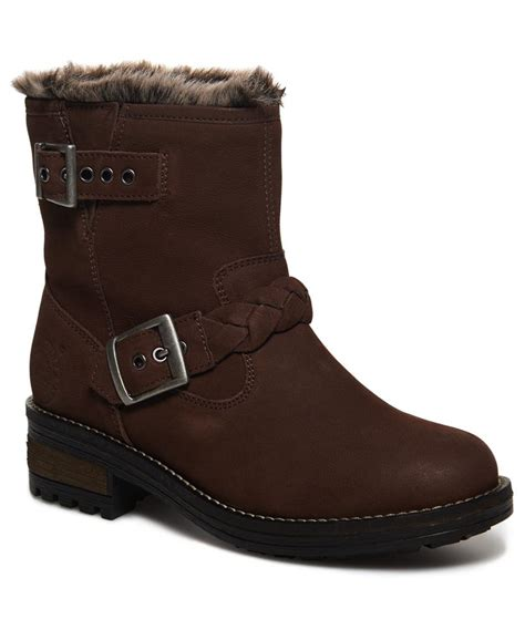 Superdry Leather Brown lyst superdry hurbis boots in brown