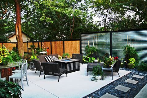 Backyard Stone Patio Ideas Patio Plants For Privacy Home Design Ideas And Pictures