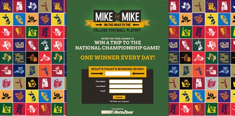 Mike And Mike Sweepstakes - mikesroadtothecfp com you could be on the road to the cfp too
