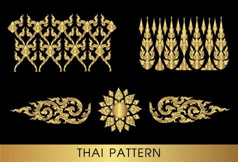 thai pattern font golden thai ornaments art vector material 08 vector
