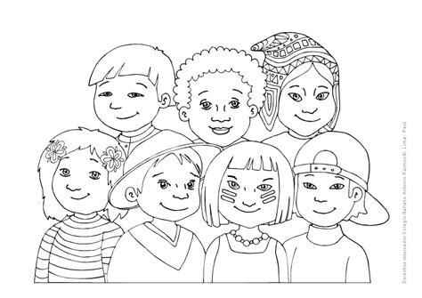 imagenes para colorear sobre la diversidad cultural diversidad cultural para colorear imagui