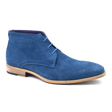 mens blue boots buy mens blue suede chukka boots gucinari