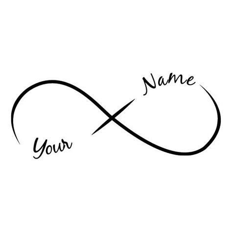 infinity tattoo with name generator design your own infinity tattoo request a custom order