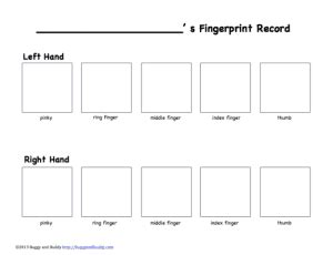 fingerprinting card template exploring fingerprints science for buggy and buddy
