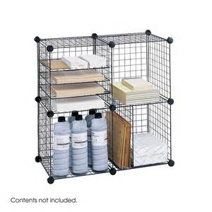 grid wire modular shelving and storage cubes safco wire cube storage shelves 5279bl