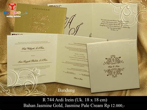 Papery Wedding Invitation Bandung by Gold Archives Unique Card Wedding Invitation