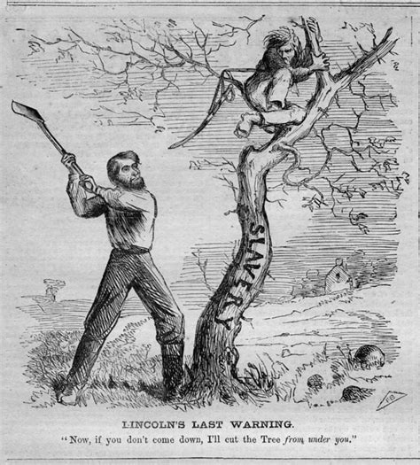 lincoln view on slavery abe lincoln chopping slavery tree provisional