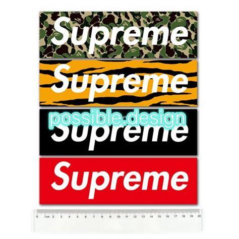 Supreme Logo Sticker