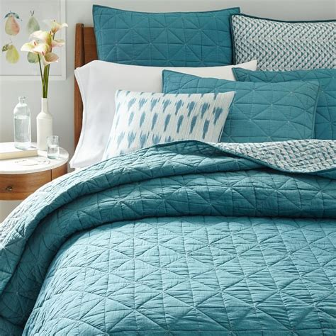 Blue Coverlet Blue Teal Nomad Coverlet Shams Everything Turquoise