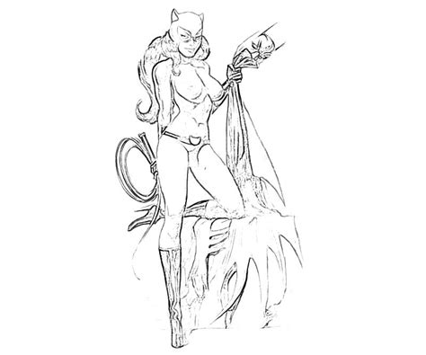 coloring page catwoman catwoman coloring pages sescatwonmen colouring pages