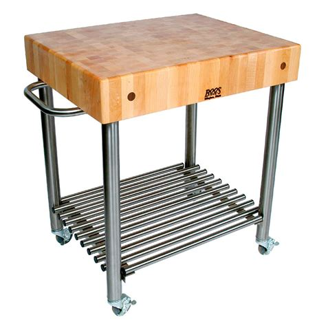 stainless steel butcher block table boos cucd15 cucina d amico cart 24 w x 30 l x 35 quot h