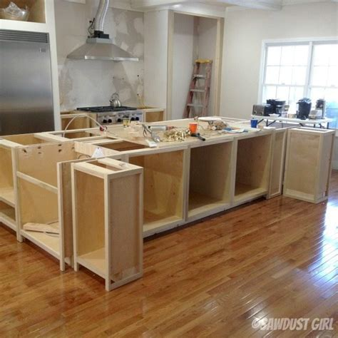 building a kitchen island with cabinets kitchen island sawdust 174