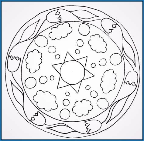imagenes de mandalas faciles para niños mandalas para colorear faciles para ni 241 os archivos