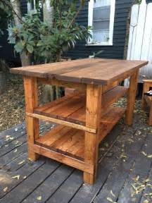 hand built rustic kitchen island house food baby ideas home design