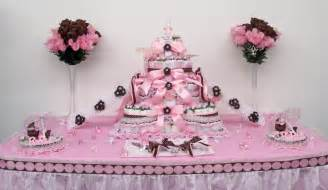pink baby shower decorations 4tier pink brown baby shower cake centerpiece gift