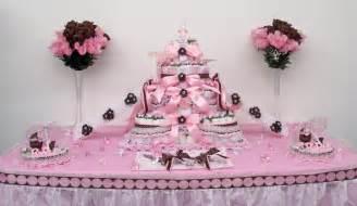 pink baby shower supplies 4tier pink brown baby shower cake centerpiece gift