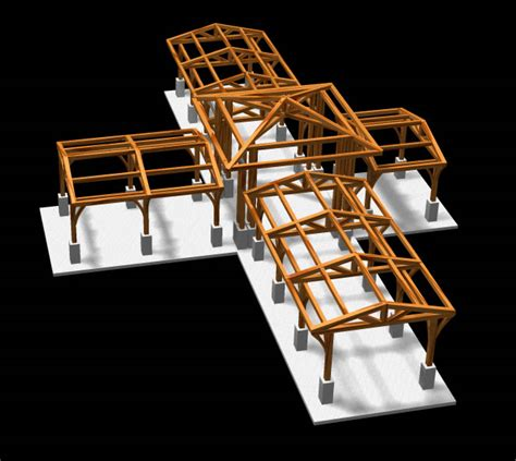 frame design structure commerical timber trame designs