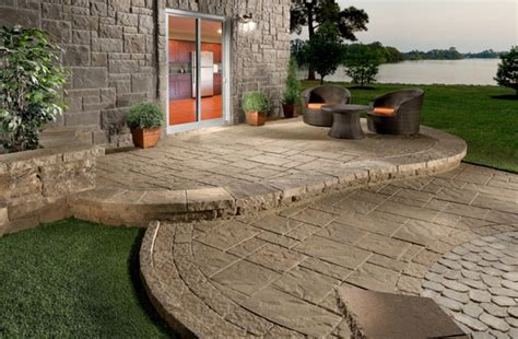 cement ideas for backyard best patio materials outdoortheme com