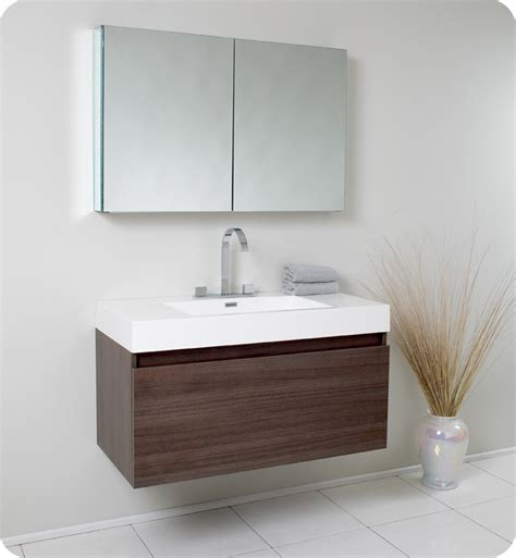 39 bathroom vanity fresca fvn8010go mezzo 39 inch gray oak modern bathroom
