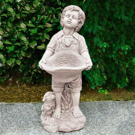 boy and his dog garden statue garden resin ornaments