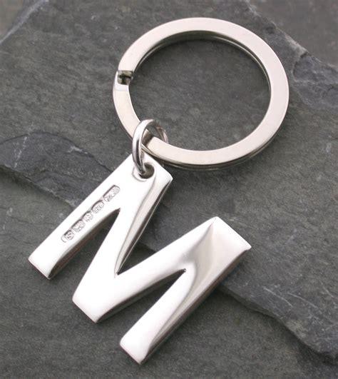 Letter Keyring sterling silver letter keyring